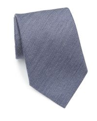 Eton of Sweden - Blue Woven Wool & Silk Tie for Men - Lyst
