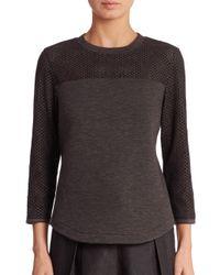 Akris Punto | Black Jersey Eyelet Sweatshirt | Lyst