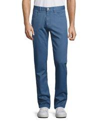 Saks Fifth Avenue | Blue Five-pocket Style Solid Pants for Men | Lyst