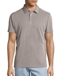 Saks Fifth Avenue | Blue Solid Polo for Men | Lyst