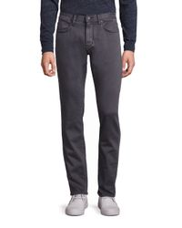 John Varvatos   Gray Bowery-fit Straight-leg Jeans for Men   Lyst