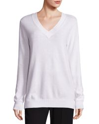 VINCE | White Vee Cashmere Sweater | Lyst