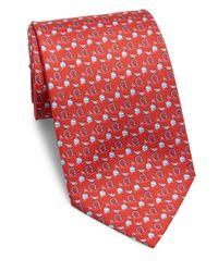 Ferragamo | Red Gancini Silk Tie for Men | Lyst