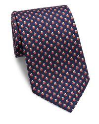 Ferragamo | Blue Ladybug Silk Tie for Men | Lyst
