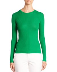 Michael Kors | Green Featherweight Cashmere Crewneck Sweater | Lyst