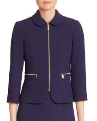 Michael Kors | Multicolor Virgin Wool Zip Jacket | Lyst