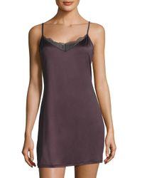 Hanro | Purple Lace-trimmed Solid Sleeveless Sleepdress | Lyst
