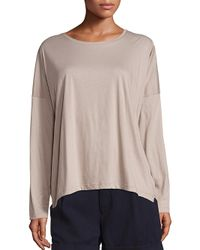 VINCE | Natural Relaxed Long-sleeve Crew | Lyst
