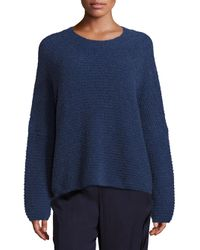 VINCE | Blue Oversized Wool & Cashmere Sweater | Lyst