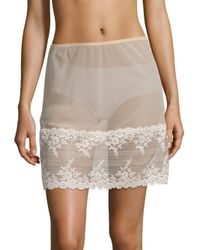 Wacoal | Natural Embrace Lace Half Slip | Lyst