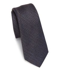 Saks Fifth Avenue | Blue Modern Chelsea Textures Silk & Wool Blend Tie for Men | Lyst