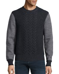 Rag & Bone | Gray Radford Cable Knit Wool Sweater for Men | Lyst