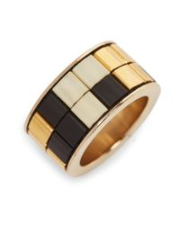 Givenchy | Metallic Geometric Mosaic Ring | Lyst