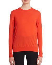 Proenza Schouler | Red Merino Wool Crewneck Sweater | Lyst