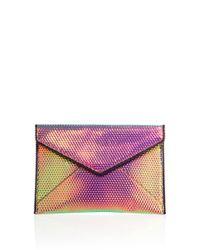 Rebecca Minkoff | Multicolor Leo Hologram Leather Envelope Clutch | Lyst