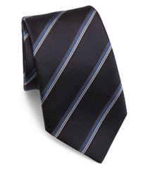 Armani | Blue Striped Woven Jacquard Silk Tie for Men | Lyst