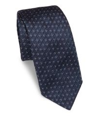 Canali | Blue Multi-dotted Silk Tie for Men | Lyst