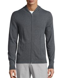 Theory | Gray Bisley Hoodie for Men | Lyst
