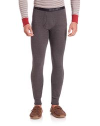 2xist | Gray Cotton Long Johns for Men | Lyst