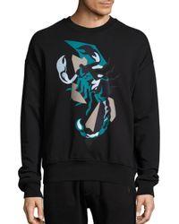 Diesel Black Gold Black Scorpion Print Sweatshirt for men