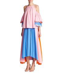Peter Pilotto - Multicolored Panel Skirt - Lyst