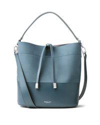 Michael Kors | Blue Miranda Medium Leather Bucket Bag | Lyst