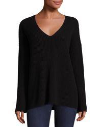 Rag & Bone   Black Phyllis Cashmere Bell Sleeve Sweater   Lyst