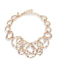 Oscar de la Renta | Metallic Circular Crystal Necklace | Lyst