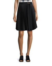 3.1 Phillip Lim | Black Pleated A-line Skirt | Lyst