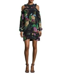 Nicholas - Multicolor Dahlia Print Cold Shoulder Dress - Lyst