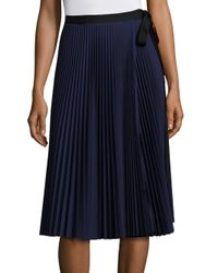 TOME | Blue Pleated Tie Skirt | Lyst
