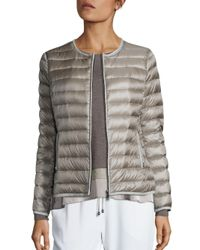 Peserico | Multicolor Short Puffer Jacket | Lyst