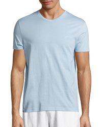Vilebrequin   Blue Mercerized Cotton V-neck Tee for Men   Lyst