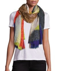 Etro | Multicolor Printed Modal & Cashmere Scarf | Lyst