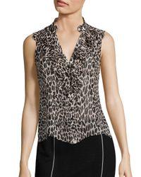 Nanette Lepore | Black Tiramisu Silk Top | Lyst
