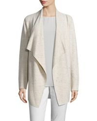 Eileen Fisher | Multicolor Peppered Cascading Cardigan | Lyst