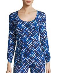 Cosabella | Blue Printed Talco Long Sleeve Top | Lyst