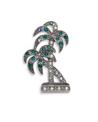 Marc Jacobs | Green Double Palm Crystal Brooch | Lyst