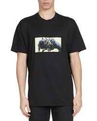 Givenchy | Black Rottweiler Photo Tee for Men | Lyst