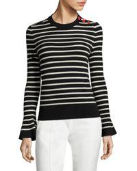 Tory Burch   Blue Kimberly Bell Sleeve Merino Wool Sweater   Lyst