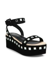 Giuseppe Zanotti | Black Jeweled Suede Platform Ankle-strap Sandals | Lyst