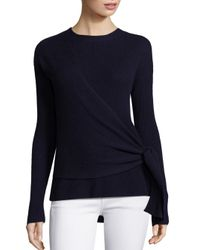 Brochu Walker | Blue Gray Cashmere & Wool Wrap Sweater | Lyst