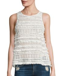 Generation Love | White Lilith Cotton Lace Tank Top | Lyst