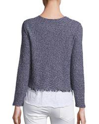 Generation Love - Blue Simone Fringe Layer Sweater - Lyst