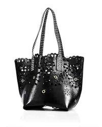 Marc Jacobs   Black Embellished Laser-cut Leather Tote   Lyst