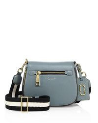 Marc Jacobs   Blue Gotham Small Leather Saddle Bag   Lyst