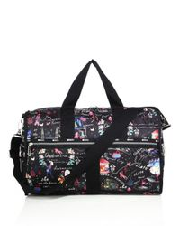 LeSportsac   Black Cr Large Floral Weekender Bag   Lyst