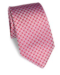Charvet | Red Abstract Star Silk Tie for Men | Lyst