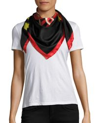Givenchy | Multicolor Imperial Rottweiler Star Silk Twill Scarf | Lyst