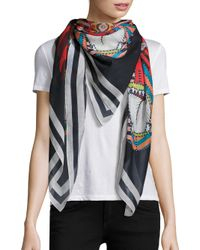 Givenchy | Black 4 Imperial Rottweiler Cotton & Silk Scarf | Lyst